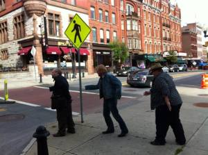 On the town with Detectives Without Borders blog founder Pete Rovovsky and author RJ Ellory.