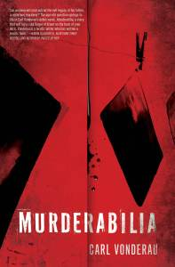 Murderabilia Cover with quote