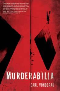 Murderabilia Cover with quote